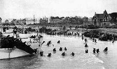 Débarquement des canadiens sur les plages de Normandie