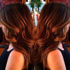 Loving chocolate and caramel. Hair by Sherri Jessee.