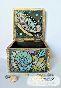 Hello to all. Sharing an altered memory box featuring the Spectrum Noir Colorista Dark - Under the Sea Premium Paper Pads and the fabulou...