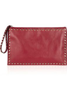 726d4d3b644 Valentino Valentino Rockstud Clutch, Me Bag, Yes Please, Leather Clutch,  Net A