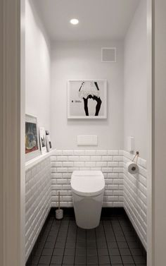 A Midcentury Inspired Apartment with Scandinavian Tendencies. Small toilet ... & The 45 best Small bathroom and WC Ideas. images on Pinterest | Home ...