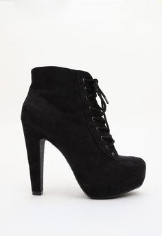Layla Booties - Black, fall must have, fall fashion, #booties, lace up shoes, #priceless