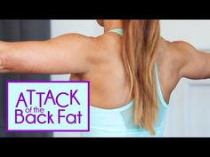 Attack of the Back Fat! Get rid of the Bra Bulge Exercises with Natalie Jill! Body Fitness, Fitness Tips, Fitness Motivation, Health Fitness, Video Sport, Back Fat, Back Exercises, Stretches, Fat To Fit