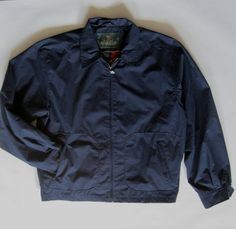 Drizzler by McGregor jacket navy blue with red by afterglowvintage, $68.00