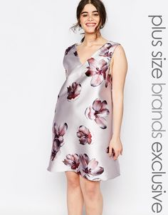 Image 1 ofTruly You Over Scale Floral Print Shift