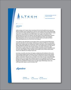 Create modern, sleek letterhead design for IT service company by Ak Graphics