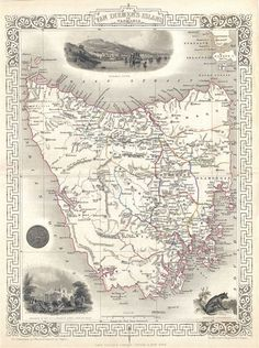Antique maps, old maps, vintage maps of all regions of the world for sale by Leen Helmink Antique Maps. We sell authentic antique maps, sea charts and atlases. Vintage Maps, Antique Maps, Antique Prints, Rare Antique, Tasmania, Johann Moritz Rugendas, Map Of Spain, Egypt Map, World Map Decor