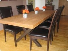simple dining room table plans - Diy Dining Room Table Plans