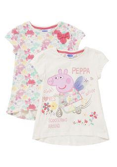 Peppa Pig 2pk tees - Tesco FF