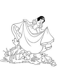 snow white printable coloring page - Printable Colouring Pages Disney