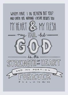 Psalm 73:25-26