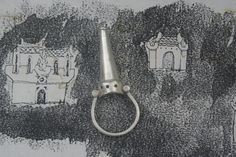 Castle ring, medieval wedding band , irish,,Gothic Revival jewelry, tower ring, medieval love token, tudor statement jewellery, love, Medieval Wedding, Medieval Castle, Gothic Rings, Gothic Jewelry, Royal Jewelry, Jewellery, Silver Jewelry, Gothic Aesthetic, Medieval Jewelry