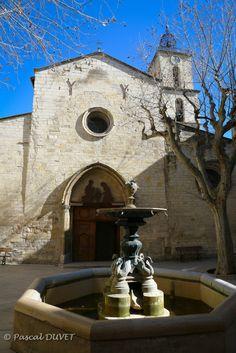 MNQB16 - Eglise Saint-Sauveur et fontaine à Manosque - Alpes de Haute Provence 04