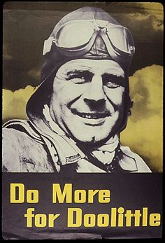 US poster honoring Jimmy Doolittle, WWII