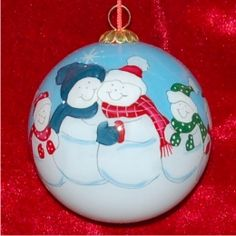 6 - Snow Family - Personalized Family Christmas Ornament
