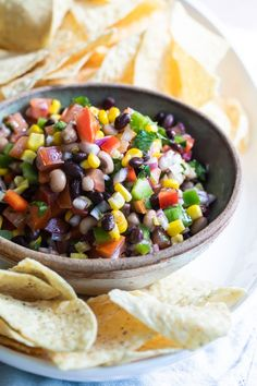 This easy recipe for Cowboy Caviar is fun, fresh, colorful, and endlessly adaptable. It makes a great dip, salad, side dish, or even a topping for grilled meats. Always a potluck favorite! Best Salad Recipes, Healthy Recipes, Canning Sweet Corn, Caviar Recipes, Cowboy Caviar, Cooking Dried Beans, Summer Recipes, Appetizer Recipes, Mexican Food Recipes