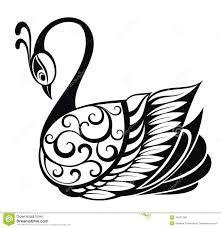 Resultado de imagen para siluetas de cisnes