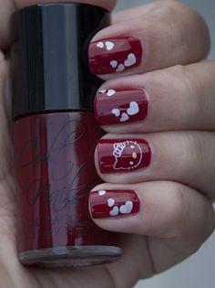 Hello Kitty nail art plate from BornPretty