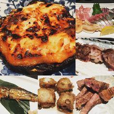 Small eats ; Grilled Aburi PrawnsAssorted Sashimi  Waygu Beef  grilled Sardines deepfried cuttlefish Beef Sushi  #Kaiho #japanese #shochu  #instafood #sgig #sgeat #sgfoodie #instagood #foodies #food #foodpic #foodgasm #sushi #beef #grilled #sotong #cuttlefish #seafood #deepfried #sardines #wagyu #sashimi #prawns #aburi #ebi #tempura #teppenyaki#tuna #giant #bbq by friedcarrotcake