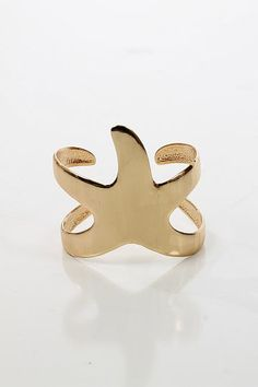Starfish Cuff, Shiny gold $16.00