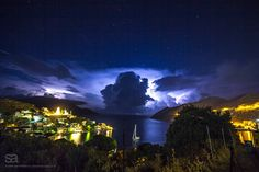 Just before the storm: thunder clouds over the Greek island of Symi.