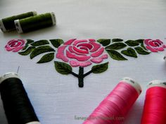 Free motion machine embroidery rose.