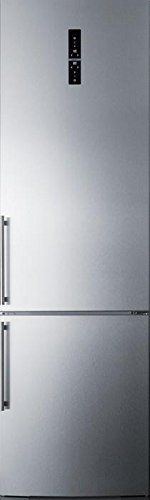 Discounted FFBF181ES 24 Bottom Freezer Refrigerator with 12.8 cu. ft. Capacity Digital Thermostat a Wine Rack ZeroZone Deli Drawer and High Temperature Alarm in Stainless Steel