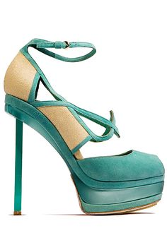 John Galliano. 2013 fall. Sorry ladies , like the shoes but could not wear these heels