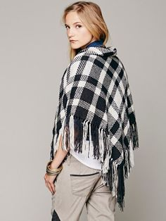 Free People Striped Triangle Shawl
