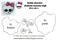 Molde Caveirinha Monster Hight