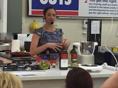Healthy Hearts Unite! Rockstar Angela discussing how you can lower your cholesterol & high blood pressure naturally, hosted by The Good Guys in Capalaba