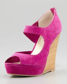 Down To The Wire Wedge Sandal Plum By Seychelles At Neiman Marcus Pink Wedges