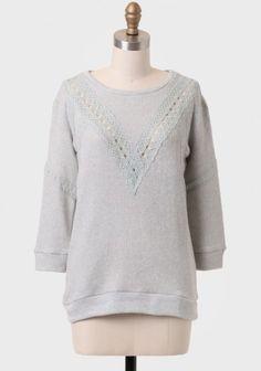 Avalon Lace Detail Sweater | Modern Vintage Sweaters | Modern Vintage Tops | Modern Vintage Clothing