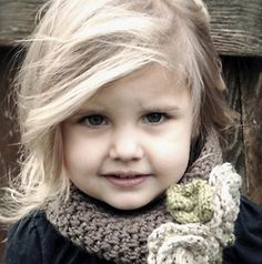 :) Love her little cowl scarf...so sweet !!!!