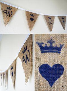 DIY Bunting! Initials, Love shapes & colour theme! LOVE THIS IDEA!