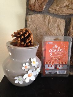 When most of the scent runs out,  roll pinecones in the hot wax.  This works as a cheap fire starter during the chilly months! (It also smells great when used in the fireplace) #Candle Warmer hacks,  #wax melts, #pinecone,  #fire-starter