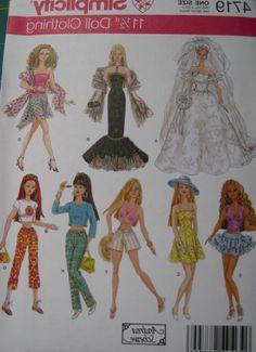 Crochet Pattern: Barbie Doll Ruffle Dress