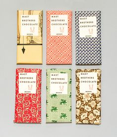 FANCY-PANTS PACKAGING FOR THE MAST BROTHERS CHOCOLATE.