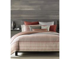 Hotel Collection Modern Geo Stripe Full/Queen Duvet Cover, Only at Macy's - Bedding Collections - Bed & Bath - Macy's Modern Duvet Covers, Bed Covers, Hotel Collection Bedding, Striped Bedding, Cheap Bed Sheets, King Comforter, Queen Duvet, Comforter Cover, Cozy Bed