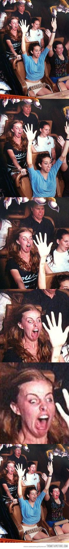 roller coasters...they're not for everyone. the longer you stare, the funnier it gets
