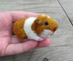 Needle felted guinea pig by HandmadeByNovember on Etsy, $28.00