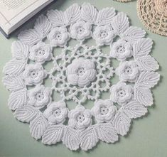 "Pattern featured in the book ""Irish Lace Doilies"" published by Annie's attic. Designed by Ferosa HaroldIrish Rose Splendor doily from Ravelry.Irish lace crochet Ferosa Harold-I made this for Adam's old girlfriend. she acted like she didn't know Thread Crochet, Filet Crochet, Crochet Motif, Knit Crochet, Crochet Dollies, Crochet Flowers, Irish Crochet Patterns, Knitting Patterns, Crochet Design"