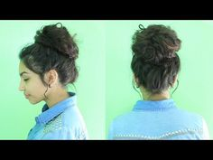 Messy Hairstyles for Curly Hair In 2020 Easy Messy Bun Tutorial Messy Bun Curly Hair, Curly Bun Hairstyles, Long Curly Hair, Curly Hair Styles, Cool Hairstyles, Messy Buns, Hair Buns, Frizzy Hair, Hairdos