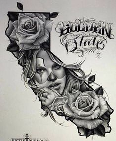young California tattoo designs
