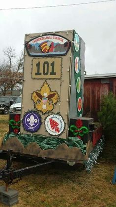 Boy Scout Troop 101 from Cleveland,TN Christmas parade float.