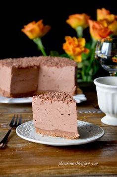płaszkowo: czekoladowy sernik na zimno Vanilla Cake, Cheesecake, Blog, Cheese Cakes, Cheesecakes