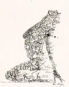 """Typographic nude"" by Emanuel Kaja"