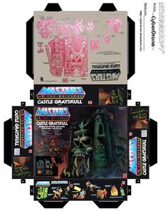 Mini Castle Grayskull Toy Box by CyberDrone.deviantart.com on @DeviantArt