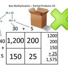 Box Method Multiplication  This worksheet will help you teach your students how to use Box Method Multiplication. This is also known as partial pro...