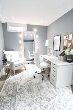 - - brand-new home office decor, office diy ideas, office room, home office, Cozy Home Office, Home Office Space, Home Office Design, Home Office Decor, Home Decor, Office Workspace, Basement Home Office, Interior Office, Office Setup